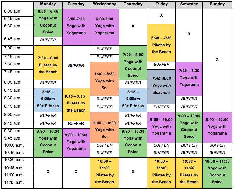 March 2021 Health and Wellbeing Timetable